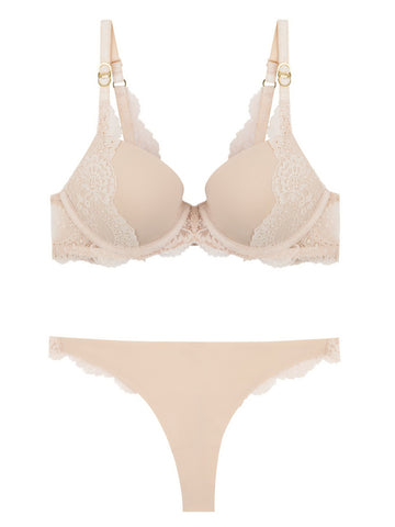 Stella McCartney Lingerie New Stella Smooth & Lace Bra-Contour Plunge - Knickers & Pearls Boutique - 1