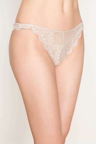 Only Hearts So Fine With Lace Thong - Knickers & Pearls Boutique - 1