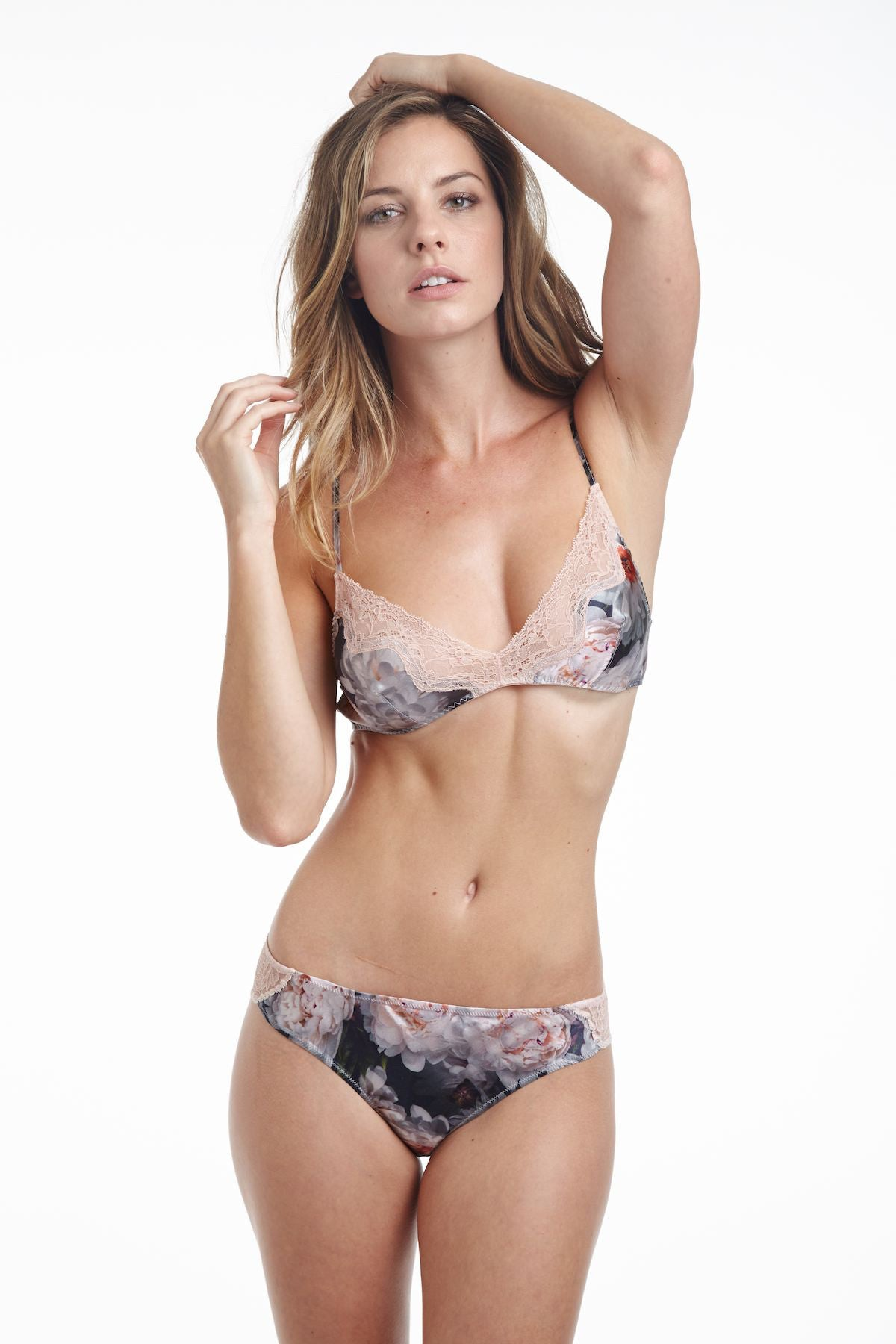 Samantha Chang Silk and French Leavers Lace Eloise Brief - Knickers & Pearls Boutique