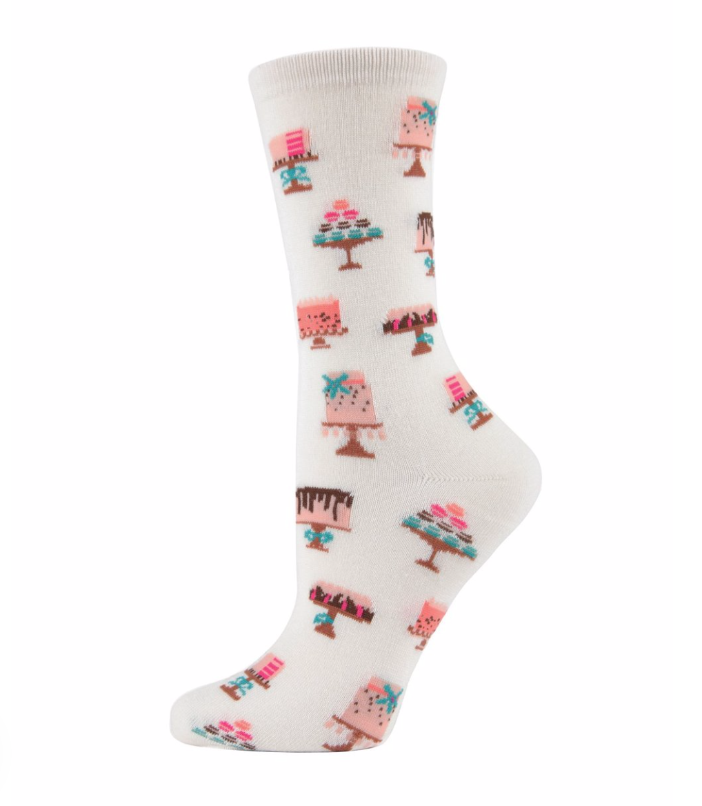 Ladies Sweet Treats Bamboo Crew Socks