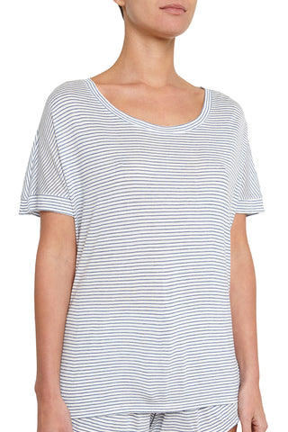 Eberjey Georgie The Not So Basic Short Sleeve Top
