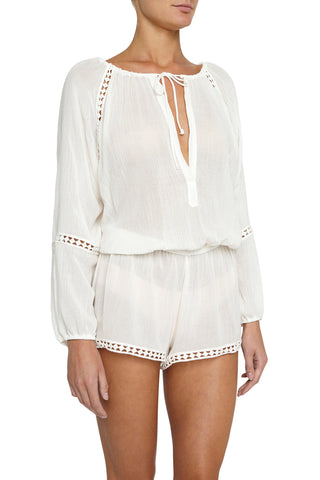 Eberjey Summer of Love Reed Romper Cover-Up