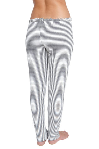 Eberjey Sadie Stripes Drawstring Slim Pant
