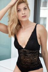 Samantha Chang Glamour Lace Bodysuit