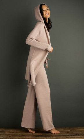 Lemón Hooded Cape with Side Slits