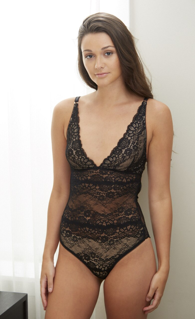 Samantha Chang All Lace Boudoir Bodysuit