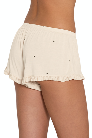 Eberjey dotted ruffle shorts at Knickers and Pearls Boutique