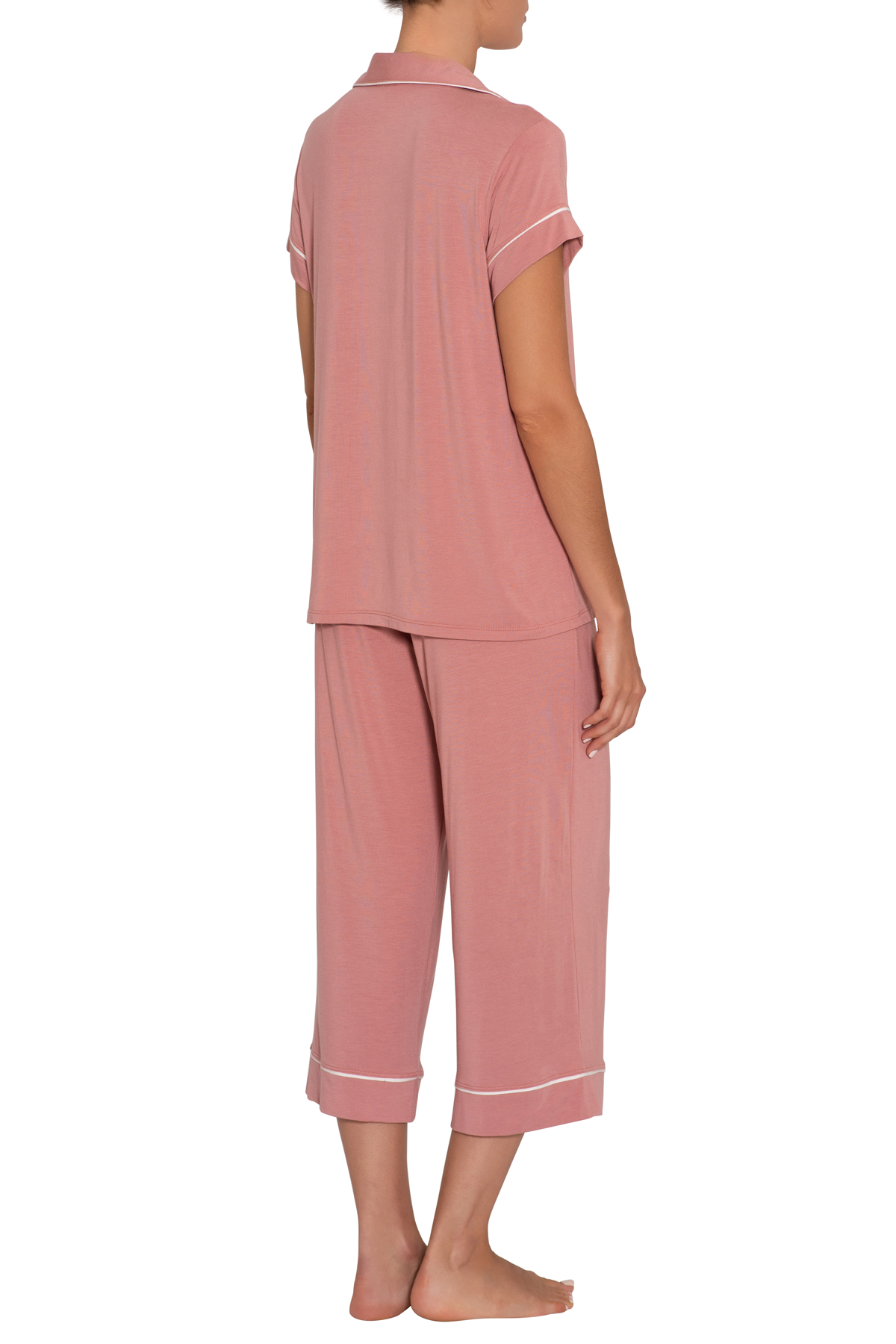Eberjey Gisele Short Sleeve Crop PJ Set
