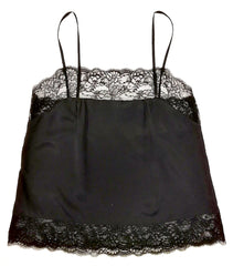 Samantha Chang Pure Silk Camisole with French Leavers Lace