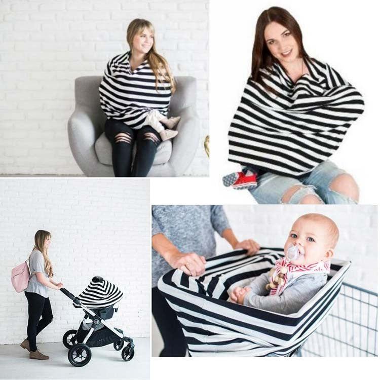 4-In-1 Car Seat Cover, Nursing Cover, Shopping Cart Cover, and ...