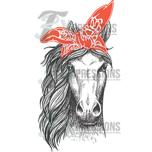 Horse With Red Scarf - 3T Xpressions