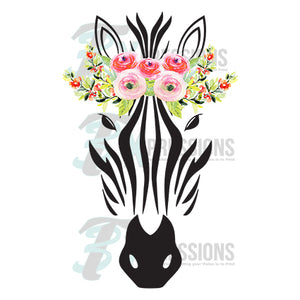 Zebra with Flower Crown - 3T Xpressions