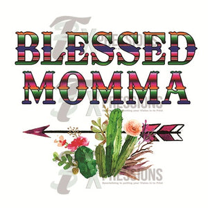 Blessed Mamma serape and cactus - 3T Xpressions