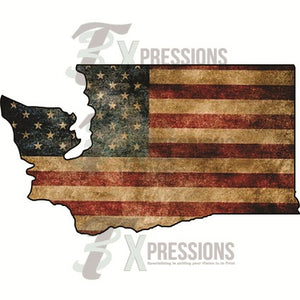 Washington Vintage Flag - 3T Xpressions
