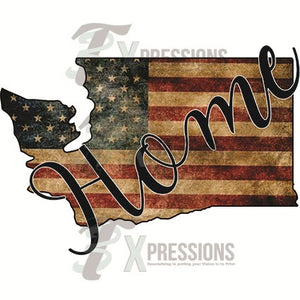Home Washington vintage flag - 3T Xpressions