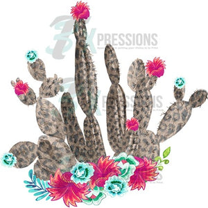 Cheetah Cactus with Flowers - 3T Xpressions
