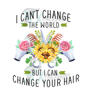 I can't change the world, hair