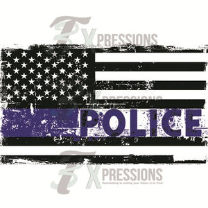 Blue Line Police Flag - 3T Xpressions