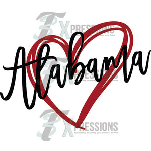 Alabama heart - 3T Xpressions