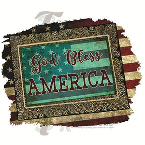 God Bless America Frame - 3T Xpressions
