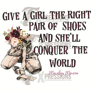Give a Girl the right pair of shoes, ballet slippers - 3T Xpressions