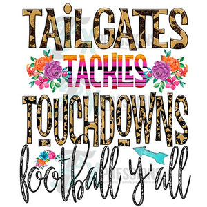 Tailgate tackle touch it's football
