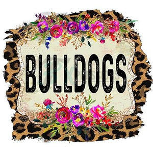 Personalized Leopard frame team name