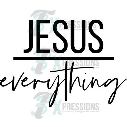 Jesus Over Everything 3t Xpressions
