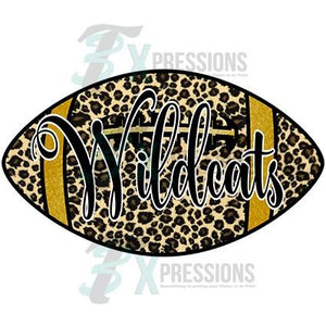 Personalized Leopard Football