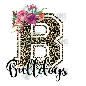 Personalized Leopard Floral Varsity Letter