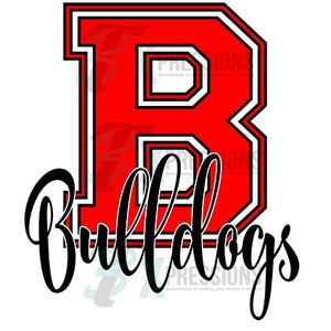 Personalized Color Red Varsity Letter