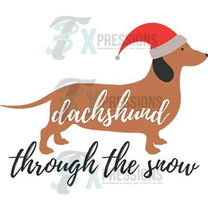 Dachshound Thru the Snow
