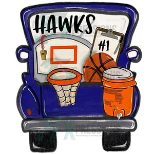 HTV Personalized Navy Basketball Truck