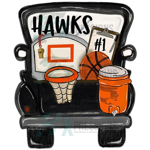 HTV Personalized Black Basketball Truck