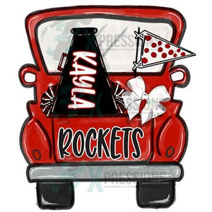 Personalized Red Cheer Truck