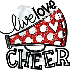 Red Live Love Cheer
