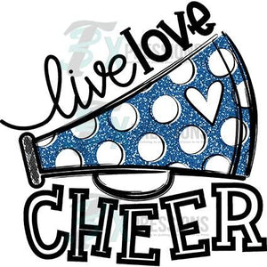 Blue Live Love Cheer