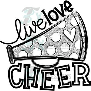 Silver Live Love Cheer