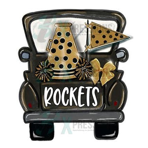 Personalized Black and Gold Cheer Truck