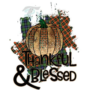 Thankful and Blessed Plaid