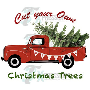 HTV Cut your own Christmas Tree, retro truck