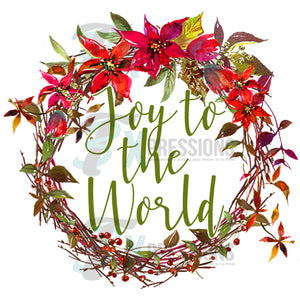 HTV Joy to the World Wreath