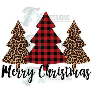 Merry Christmas, Leopard and Buffalo Plaid