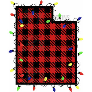 UTAH Buffalo Plaid, Christmas Lights