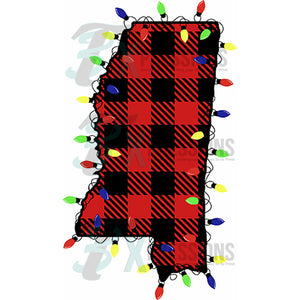 Mississippi Buffalo Plaid, Christmas Lights