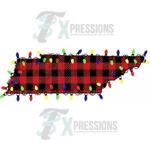 Tennesssee, Buffalo Plaid Christmas Lights