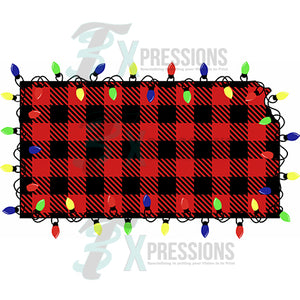 Kansas, Buffalo Plaid, Christmas Lights