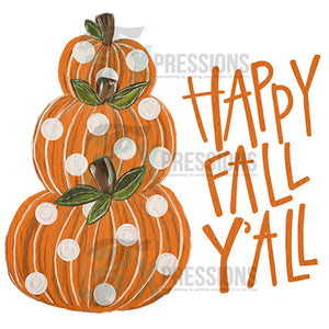 HTV Happy Fall Y'all, Painted
