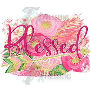 Blessed Arrow Pink and Gold