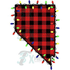 Nevada , Buffalo Plaid Christmas Lights